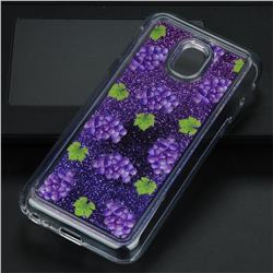 Purple Grape Glassy Glitter Quicksand Dynamic Liquid Soft Phone Case for Samsung Galaxy J3 2017 J330 Eurasian