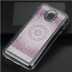 Mandala Glassy Glitter Quicksand Dynamic Liquid Soft Phone Case for Samsung Galaxy J3 2017 J330 Eurasian