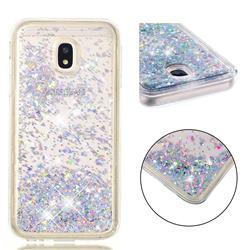 Dynamic Liquid Glitter Quicksand Sequins TPU Phone Case for Samsung Galaxy J3 2017 J330 Eurasian - Silver