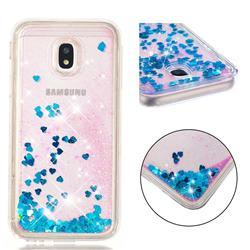 Dynamic Liquid Glitter Quicksand Sequins TPU Phone Case for Samsung Galaxy J3 2017 J330 Eurasian - Blue