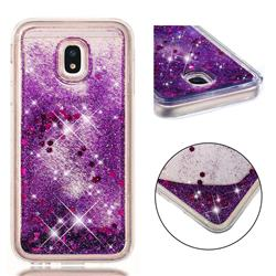 Dynamic Liquid Glitter Quicksand Sequins TPU Phone Case for Samsung Galaxy J3 2017 J330 Eurasian - Purple