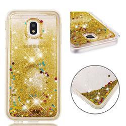 Dynamic Liquid Glitter Quicksand Sequins TPU Phone Case for Samsung Galaxy J3 2017 J330 Eurasian - Golden