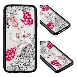 Tulip Lace Diamond Flower Soft TPU Back Cover for Samsung Galaxy J3 2017 J330 Eurasian