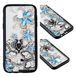 Lilac Lace Diamond Flower Soft TPU Back Cover for Samsung Galaxy J3 2017 J330 Eurasian