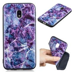 Marble 3D Embossed Relief Black TPU Cell Phone Back Cover for Samsung Galaxy J3 2017 J330 Eurasian