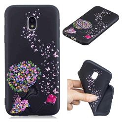 Corolla Girl 3D Embossed Relief Black TPU Cell Phone Back Cover for Samsung Galaxy J3 2017 J330 Eurasian