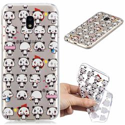 Mini Panda Clear Varnish Soft Phone Back Cover for Samsung Galaxy J3 2017 J330 Eurasian