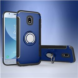 Armor Anti Drop Carbon PC + Silicon Invisible Ring Holder Phone Case for Samsung Galaxy J3 2017 J330 Eurasian - Sapphire