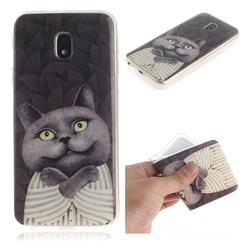 Cat Embrace IMD Soft TPU Cell Phone Back Cover for Samsung Galaxy J3 2017 J330 Eurasian