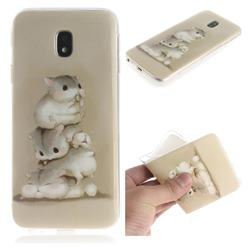 Three Squirrels IMD Soft TPU Cell Phone Back Cover for Samsung Galaxy J3 2017 J330 Eurasian