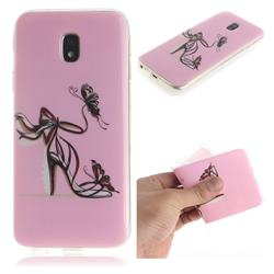Butterfly High Heels IMD Soft TPU Cell Phone Back Cover for Samsung Galaxy J3 2017 J330 Eurasian