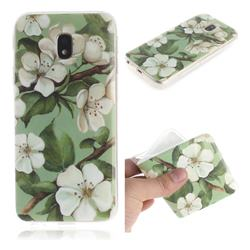Watercolor Flower IMD Soft TPU Cell Phone Back Cover for Samsung Galaxy J3 2017 J330 Eurasian