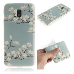 Magnolia Flower IMD Soft TPU Cell Phone Back Cover for Samsung Galaxy J3 2017 J330 Eurasian