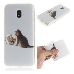 Cat and Tiger IMD Soft TPU Cell Phone Back Cover for Samsung Galaxy J3 2017 J330 Eurasian