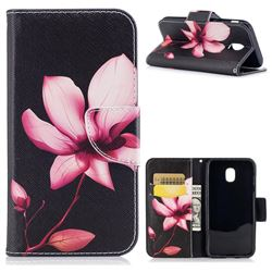 Lotus Flower Leather Wallet Case for Samsung Galaxy J3 2017 J330