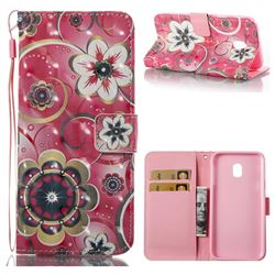 Tulip Flower 3D Painted Leather Wallet Case for Samsung Galaxy J3 2017 J330 Eurasian