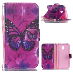 Black Butterfly Leather Wallet Phone Case for Samsung Galaxy J3 2017 J330 Eurasian