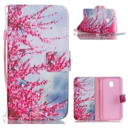 Plum Flower Leather Wallet Phone Case for Samsung Galaxy J3 2017 J330 Eurasian
