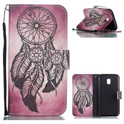 Wind Chimes Leather Wallet Phone Case for Samsung Galaxy J3 2017 J330 Eurasian