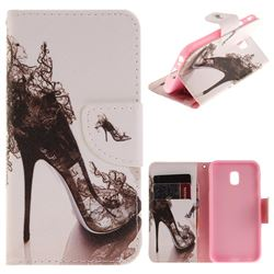 High Heels PU Leather Wallet Case for Samsung Galaxy J3 2017 J330 Eurasian