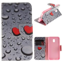Heart Raindrop PU Leather Wallet Case for Samsung Galaxy J3 2017 J330 Eurasian
