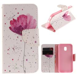 Purple Orchid PU Leather Wallet Case for Samsung Galaxy J3 2017 J330 Eurasian