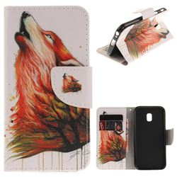 Color Wolf PU Leather Wallet Case for Samsung Galaxy J3 2017 J330 Eurasian