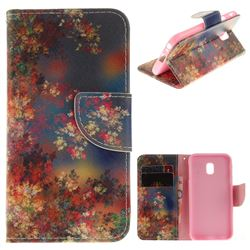 Colored Flowers PU Leather Wallet Case for Samsung Galaxy J3 2017 J330 Eurasian