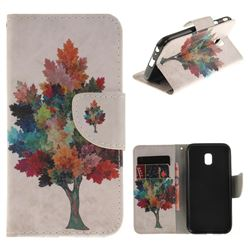 Colored Tree PU Leather Wallet Case for Samsung Galaxy J3 2017 J330 Eurasian