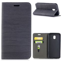 Tree Bark Pattern Automatic suction Leather Wallet Case for Samsung Galaxy J3 2017 J330 Eurasian - Gray