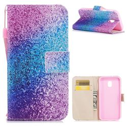 Rainbow Sand PU Leather Wallet Case for Samsung Galaxy J3 2017 J330 Eurasian