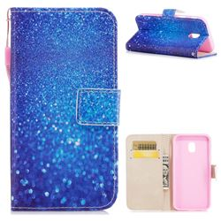 Blue Powder PU Leather Wallet Case for Samsung Galaxy J3 2017 J330 Eurasian