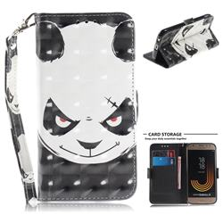 Angry Bear 3D Painted Leather Wallet Phone Case for Samsung Galaxy J3 2017 J330 Eurasian
