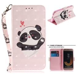 Heart Cat 3D Painted Leather Wallet Phone Case for Samsung Galaxy J3 2017 J330 Eurasian