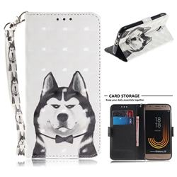 Husky Dog 3D Painted Leather Wallet Phone Case for Samsung Galaxy J3 2017 J330 Eurasian
