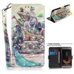 Beast Zoo 3D Painted Leather Wallet Phone Case for Samsung Galaxy J3 2017 J330 Eurasian