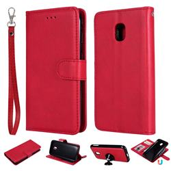 Retro Greek Detachable Magnetic PU Leather Wallet Phone Case for Samsung Galaxy J3 2017 J330 Eurasian - Red