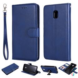 Retro Greek Detachable Magnetic PU Leather Wallet Phone Case for Samsung Galaxy J3 2017 J330 Eurasian - Blue