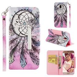 Angel Monternet Big Metal Buckle PU Leather Wallet Phone Case for Samsung Galaxy J3 2017 J330 Eurasian
