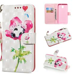 Flower Panda 3D Painted Leather Wallet Phone Case for Samsung Galaxy J3 2017 J330 Eurasian