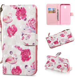Flamingo 3D Painted Leather Wallet Phone Case for Samsung Galaxy J3 2017 J330 Eurasian