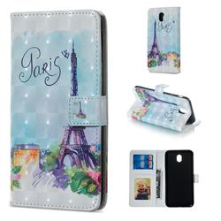 Paris Tower 3D Painted Leather Phone Wallet Case for Samsung Galaxy J3 2017 J330 Eurasian