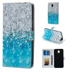 Sea Sand 3D Painted Leather Phone Wallet Case for Samsung Galaxy J3 2017 J330 Eurasian