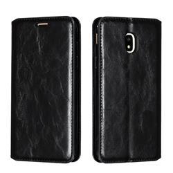 Retro Slim Magnetic Crazy Horse PU Leather Wallet Case for Samsung Galaxy J3 2017 J330 Eurasian - Black