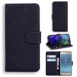Retro Classic Skin Feel Leather Wallet Phone Case for Samsung Galaxy J3 2017 J330 Eurasian - Black