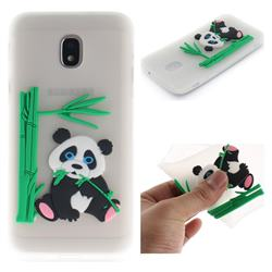 Panda Eating Bamboo Soft 3D Silicone Case for Samsung Galaxy J3 (2018) - Translucent
