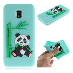 Panda Eating Bamboo Soft 3D Silicone Case for Samsung Galaxy J3 (2018) - Green