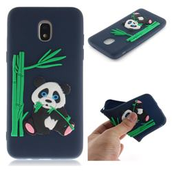 Panda Eating Bamboo Soft 3D Silicone Case for Samsung Galaxy J3 (2018) - Dark Blue