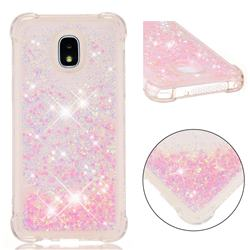 Dynamic Liquid Glitter Sand Quicksand TPU Case for Samsung Galaxy J3 (2018) - Silver Powder Star