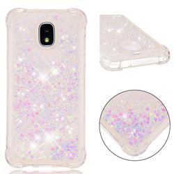 Dynamic Liquid Glitter Sand Quicksand Star TPU Case for Samsung Galaxy J3 (2018) - Pink